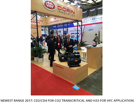 In April 2017, Shanghai welcomed the latest edition of China Refrigeration exhibition and DORIN was outstanding!